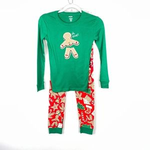 Gymboree Christmas Oh Snap Gingerbread PJs Size 10